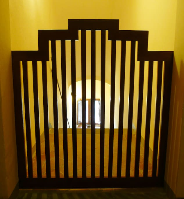 Casa Colonica - Child gate can be closed  at the top of the stairs, for toddlers or  sleep-walkers :-)