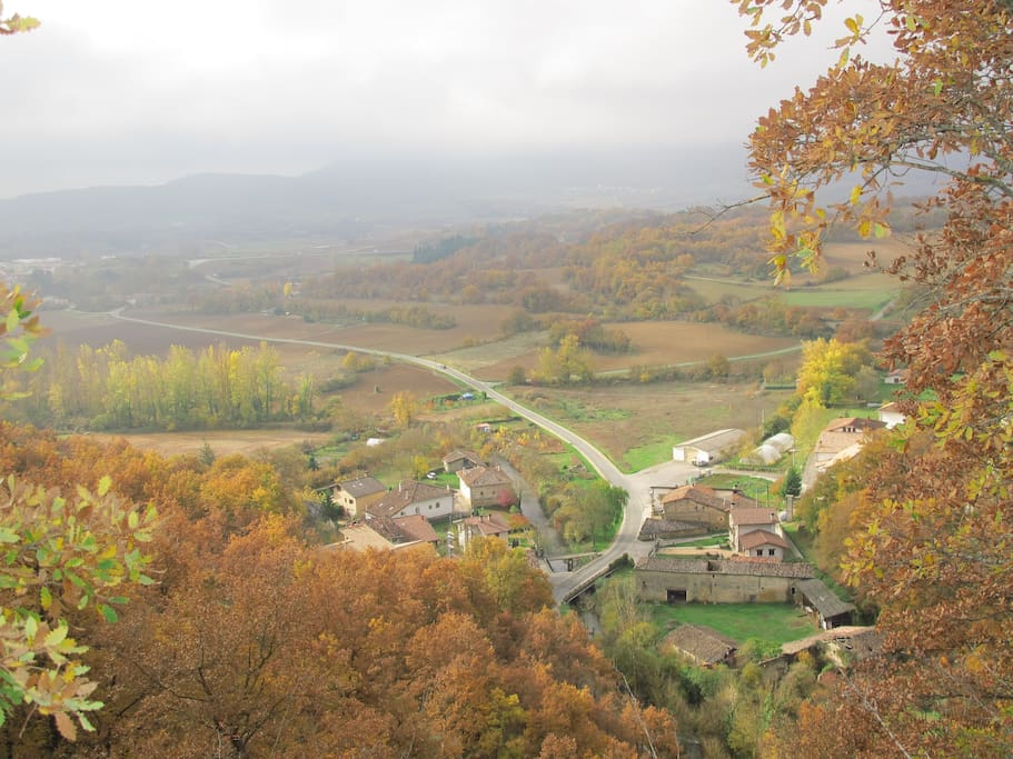 The village of Elorza.  We are situated on the right hand side of the road.
