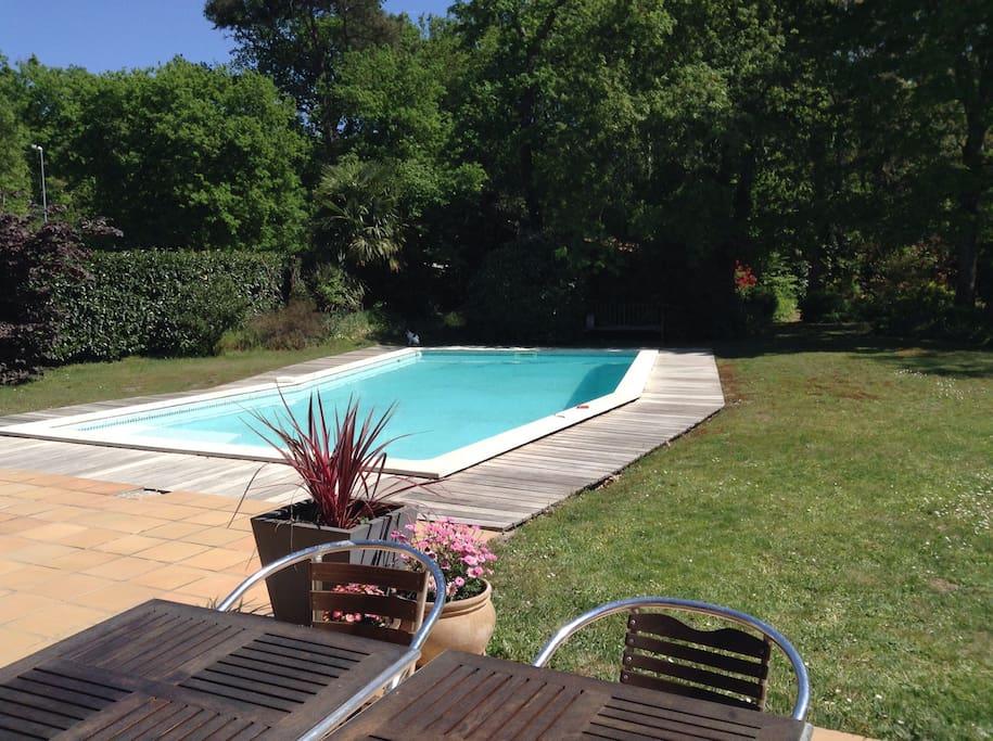 Maison avec piscine proche for t maisons louer for Piscine pessac