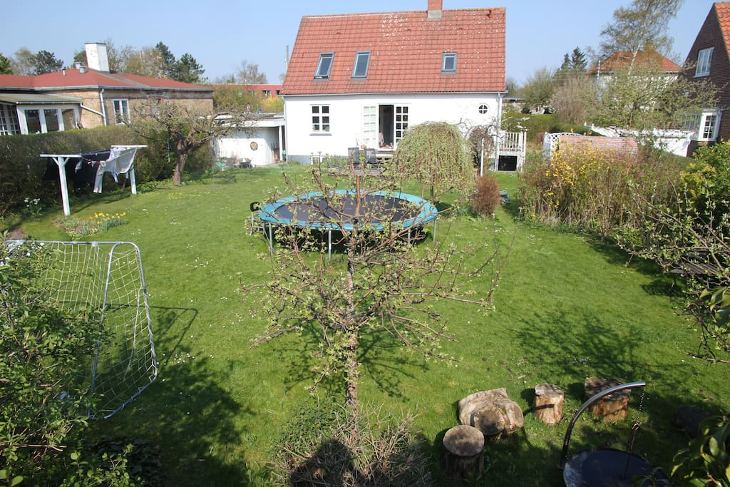 Our house - with overview of our private garden