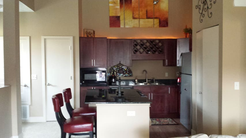 midtown 1-bed with garage - Omaha - Appartement