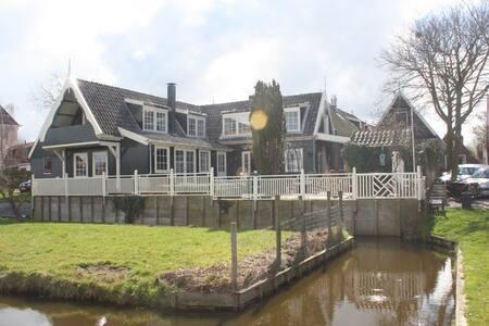 Familiehuis + tuin en vrij uitzicht - De Rijp