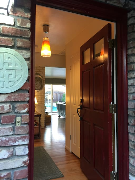 Main House: Using a keyless entry, your access is safe adn easy.