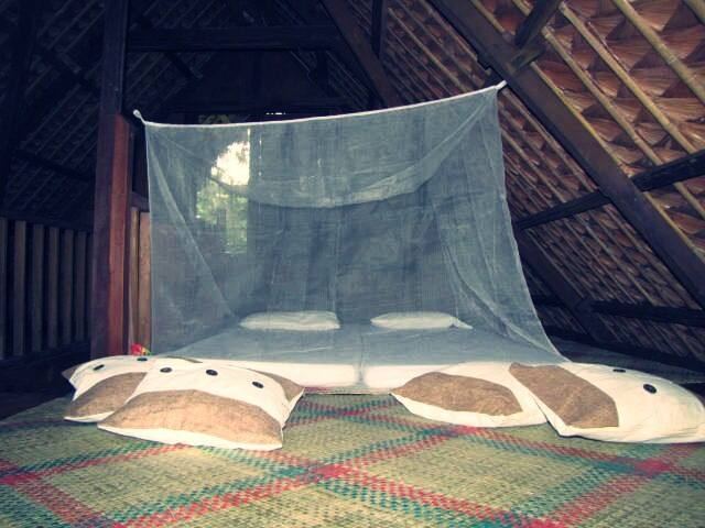 sleeping area at the loft