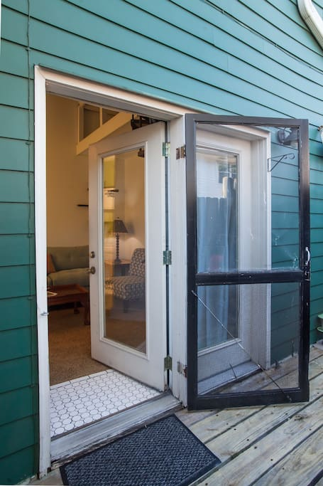 your private entrance off the deck