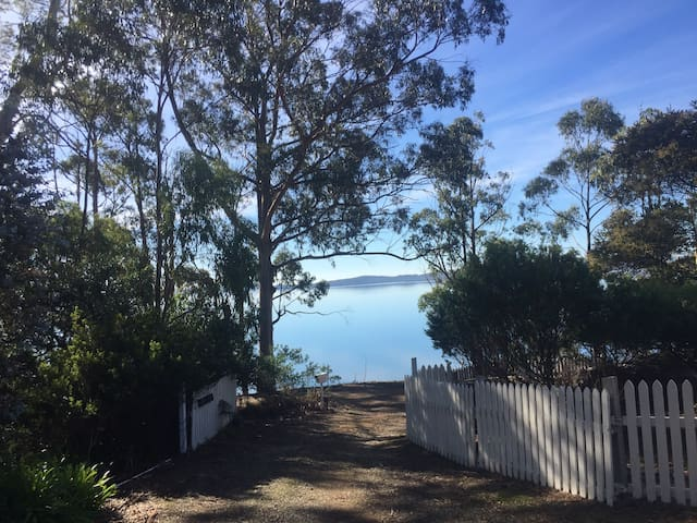 View across Simpsons Bay from front deck of Petite Varuna