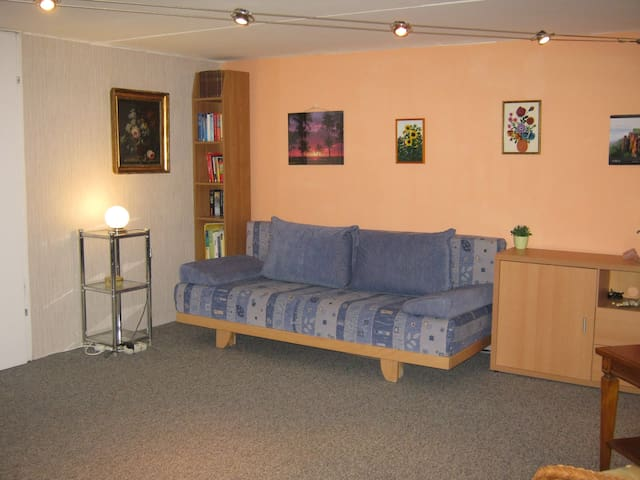 Guestroom in basement