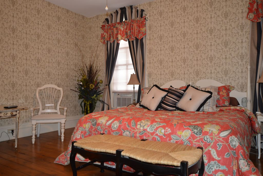 The Lincoln Room. King size sleep number bed.