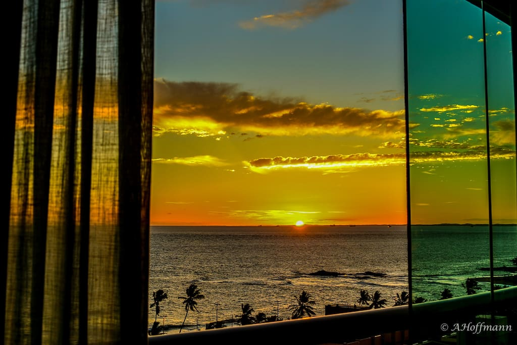 Pôr do sol - vista da varanda.