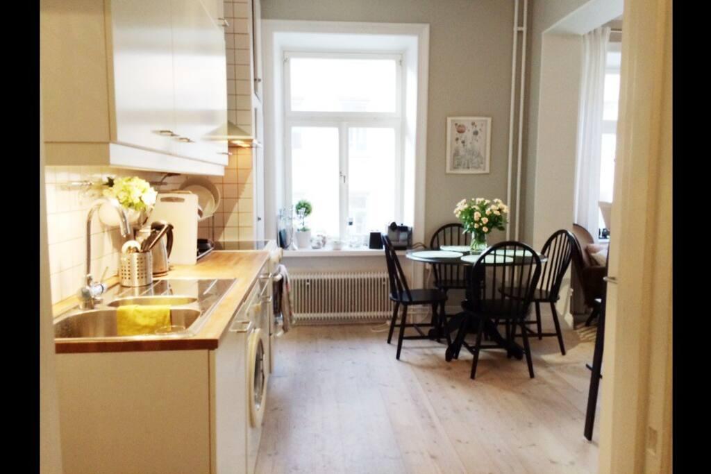 Kitchen seen from hallway