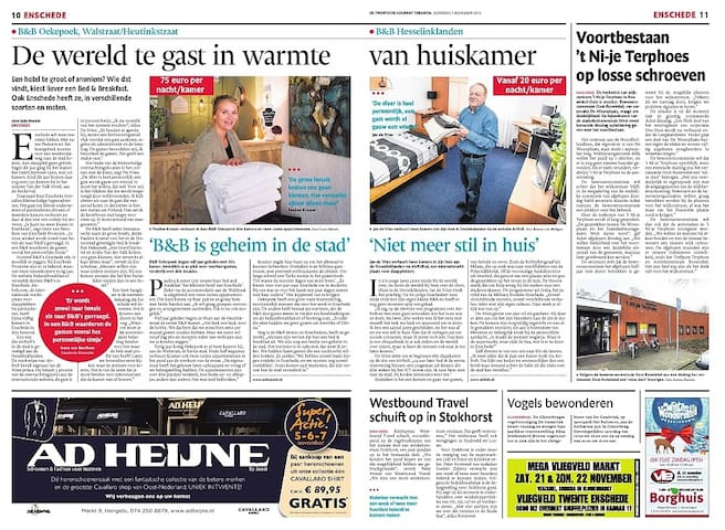 Promotion in daily paper in Holland