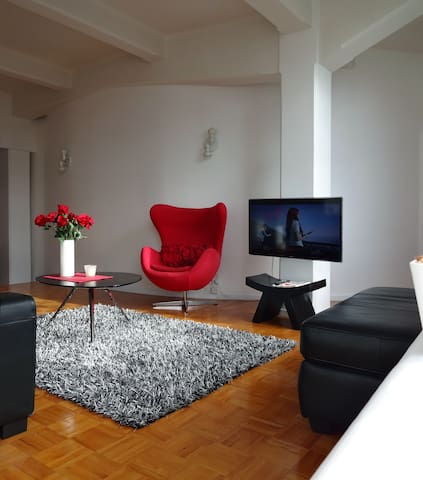 Sunny, central, BBC featured apartment, free Wifi