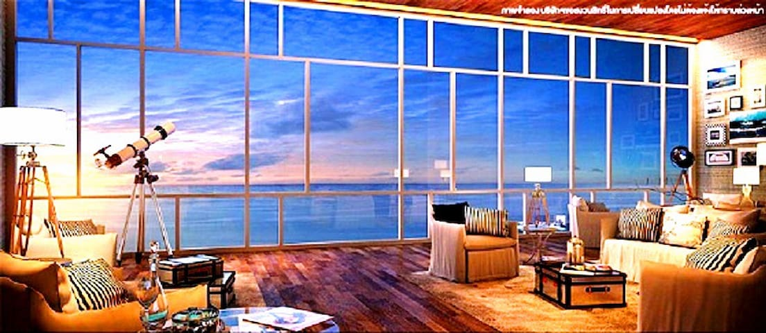 Fantastic direct sea view room in pattaya central