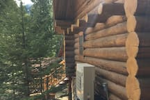 True Montana Log Cabin on an island at Bull Lake!