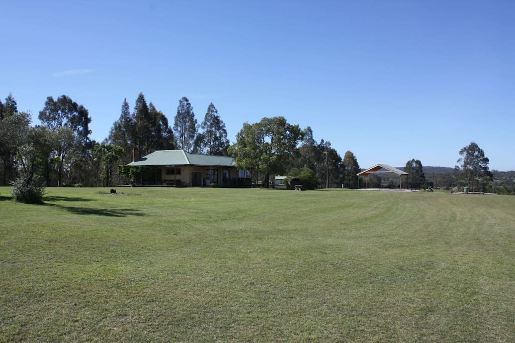 Enjoy spacious grassed areas, great for playing soccer or flying kites.