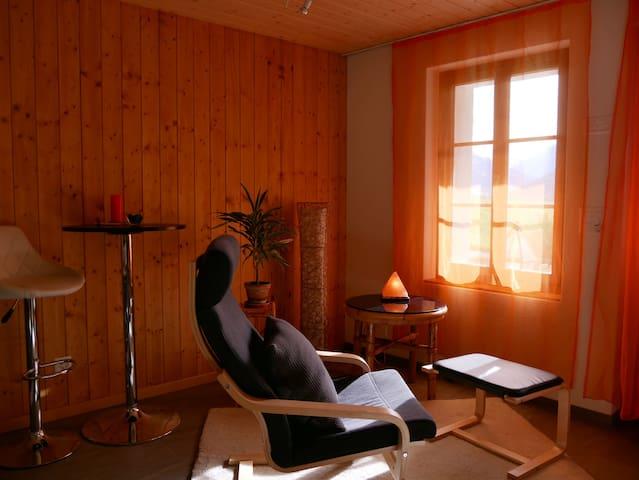 Studio für Auszeit mit Blick auf den Niesen
