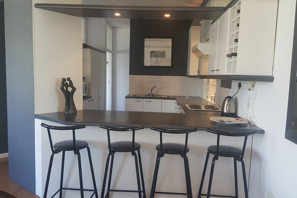 Breakfast nook in well equipped kitchen