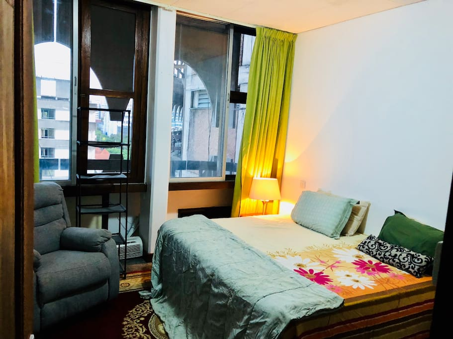 Bedroom area with amazing city view of Dar Es salaam