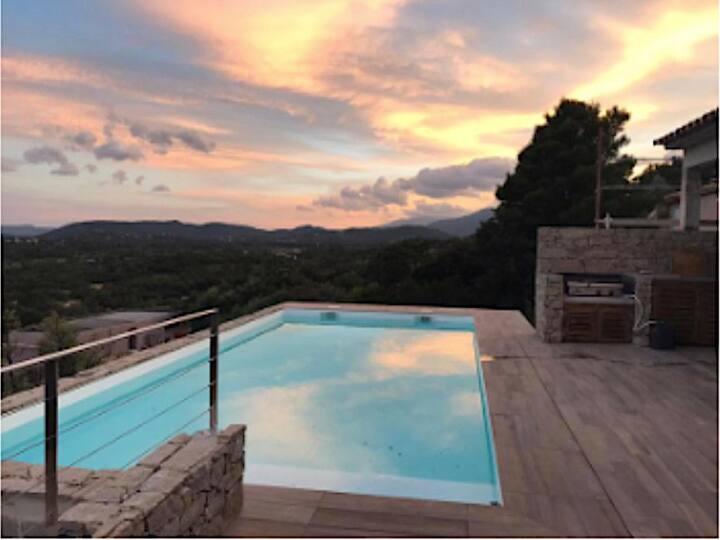 🌞 🌞 Villa avec piscine privée vue mer-5 ch-5 sdb 🏖