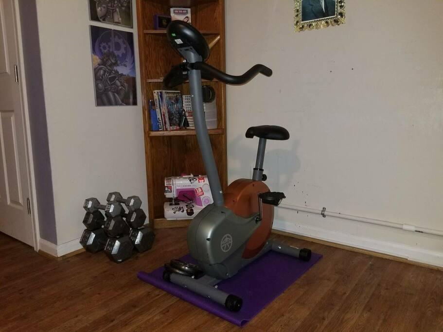 Mini workout area