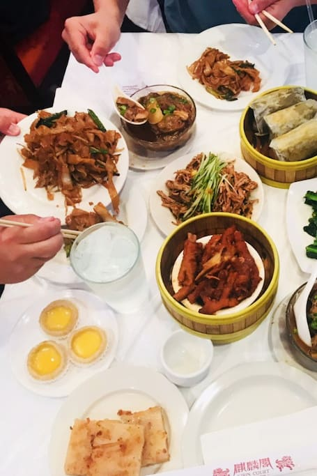 Dim Sum selections off the carts