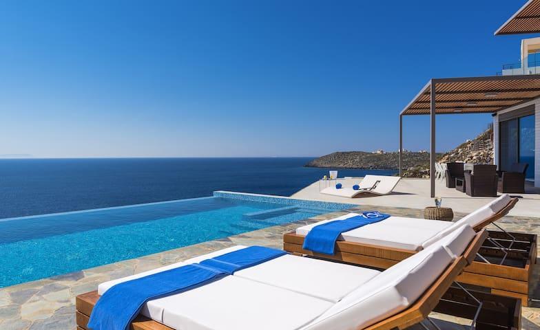 Luxury seafront design villa, Crete - Chania - Villa