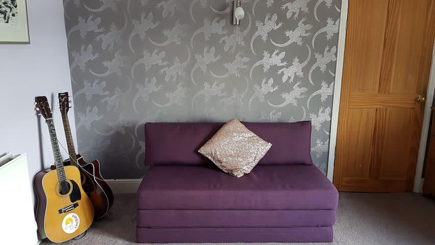 Purple Lizard Bedroom