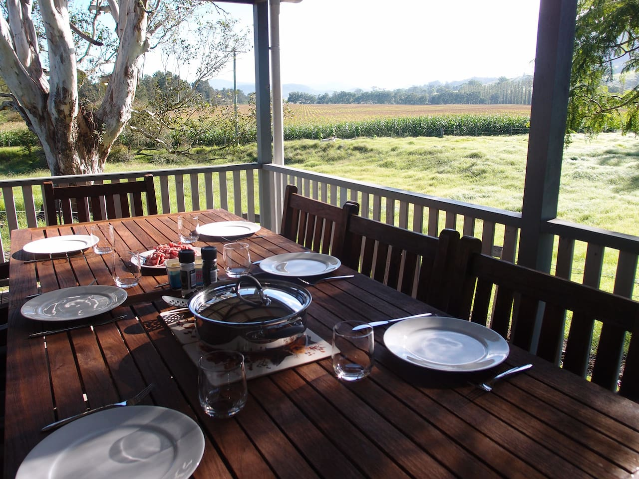Covered outdoor verandah with gas bbq