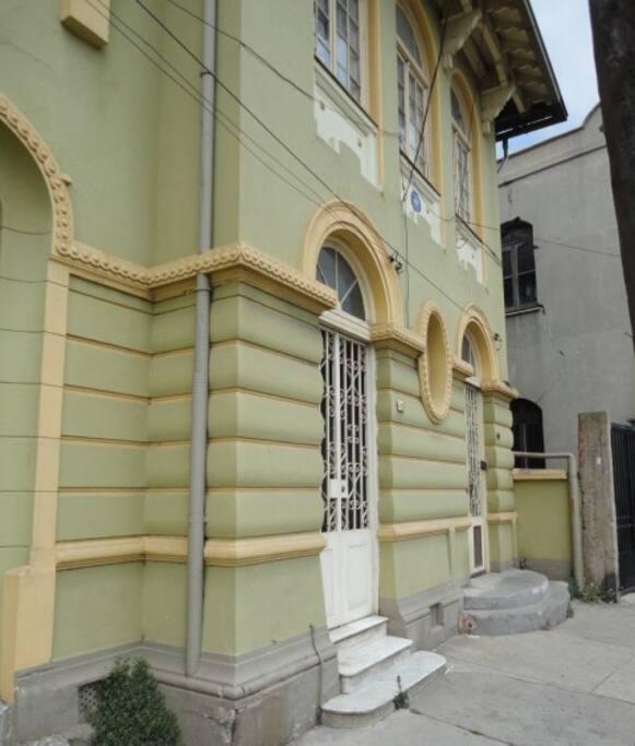 Fachada de nuestra casa. Our house facade.