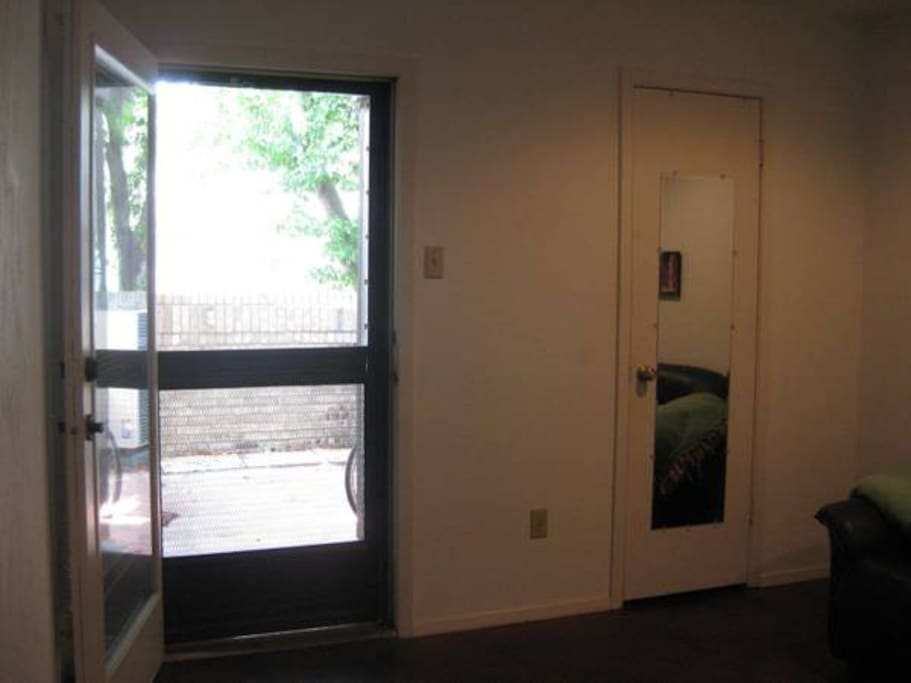 Door opens to the patio from the guest bedroom