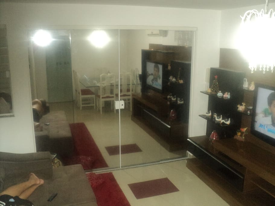 Sala confortavel 24m²