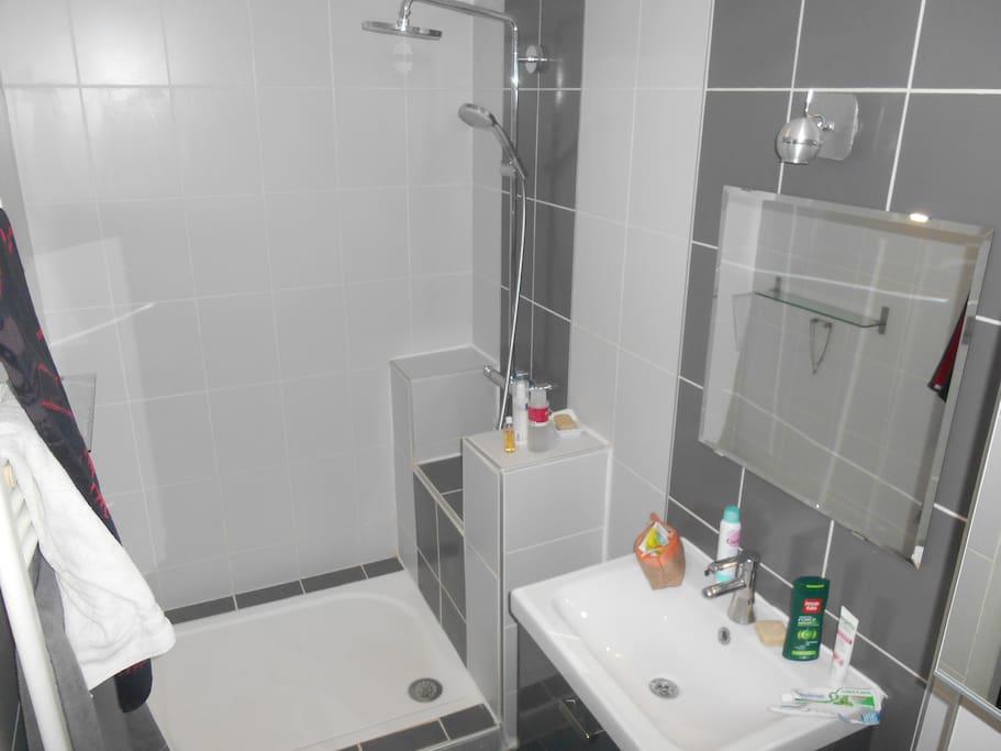 Salle de bain + WC attenant à la chambre privé
