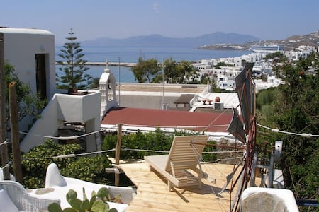 double bed stone jacuzi in town 122 - Mikonos - Cave
