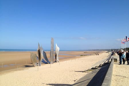 Located on one of most famous D-Day - Saint-Laurent-sur-Mer