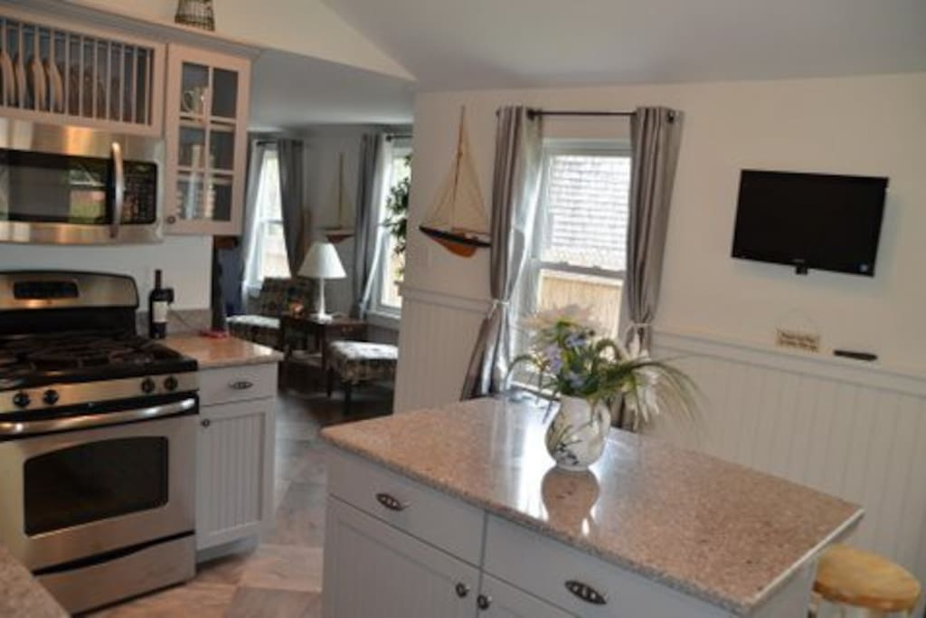 Kitchen directly off Media room for great flow and entertaining.