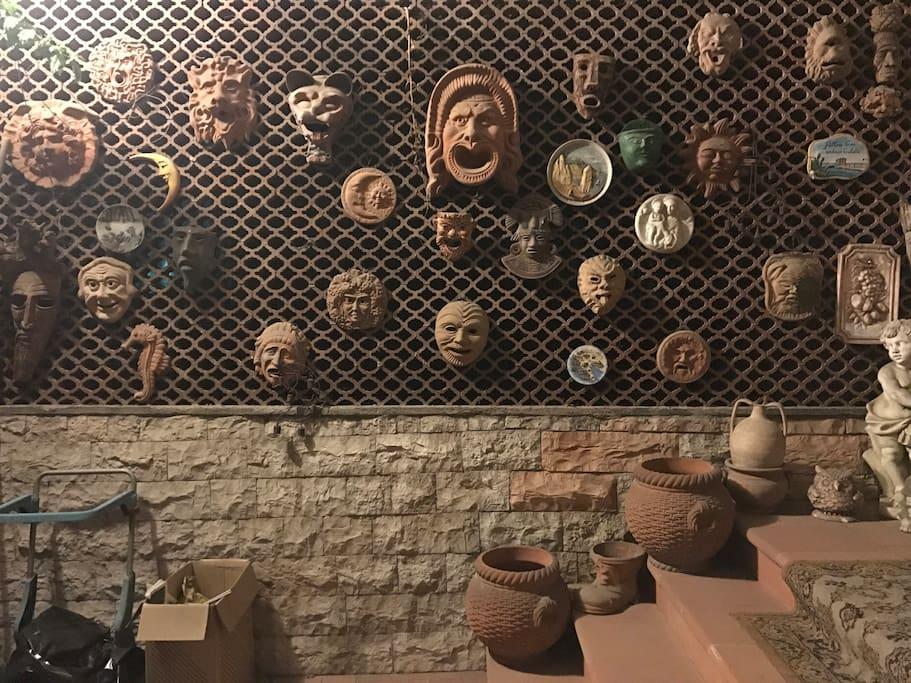 This is collection masks from parents when they traveled and brought all over the world !