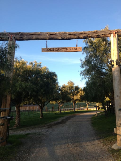 Entrance to the Ranch.