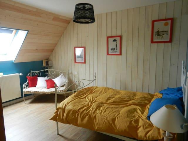1 chambre et 1 chambre un enfant - Saint-Pierre-de-Maillé - House
