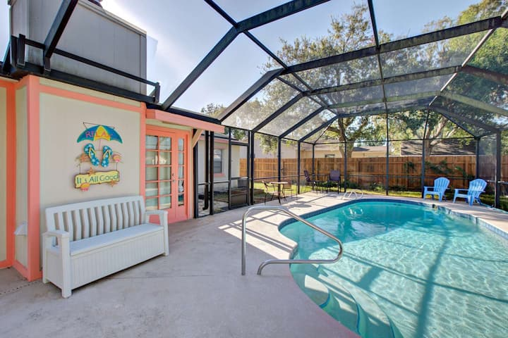 Quiet Screen Pool Home/Daytona Area-Prvt Yard-Boat/RV Parking-Near Bch/Attractions-Wifi-PROF CLEANED