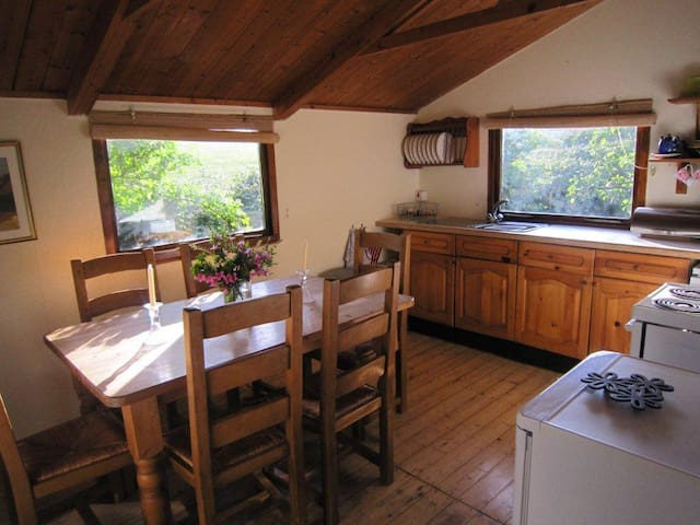 Sunny Kitchen and Dining area.