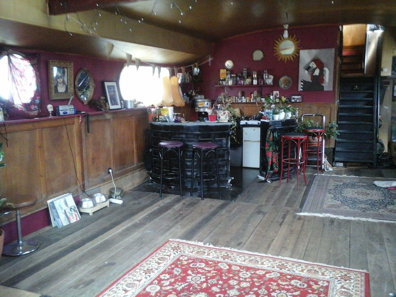 le salon / espace cuisine