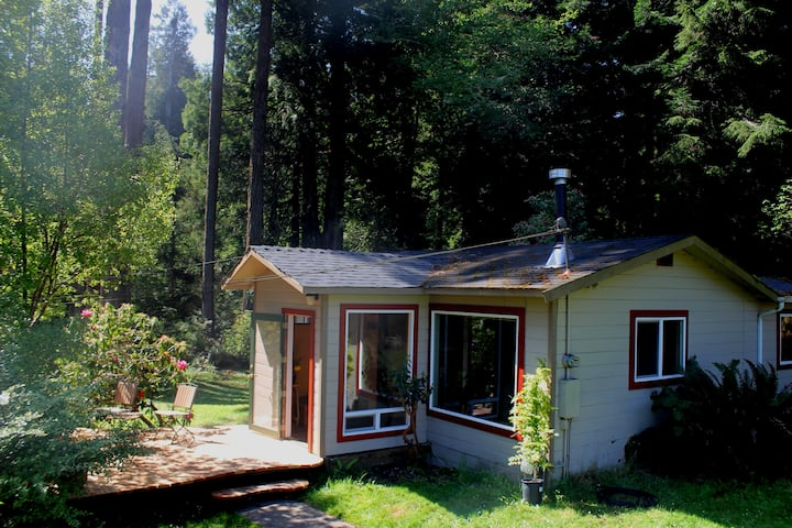 Handcrafted Cottage in the Redwoods