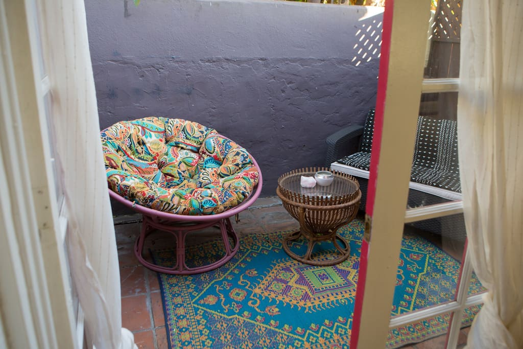 Private Patio off off Guest Room