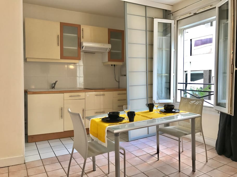 Kitchen or Dinning, just by a sliding door:)