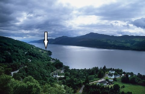 The Cottage on Loch Ness, with panoramic views.
