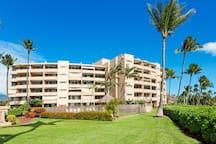 Island Sands Resort...beautiful, oceanfront grounds.