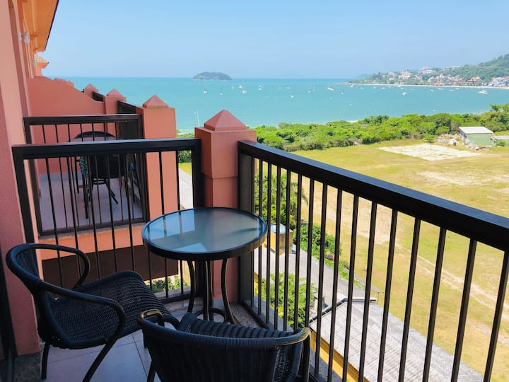 Beautiful apartment sea view resort Jurerê JBV455