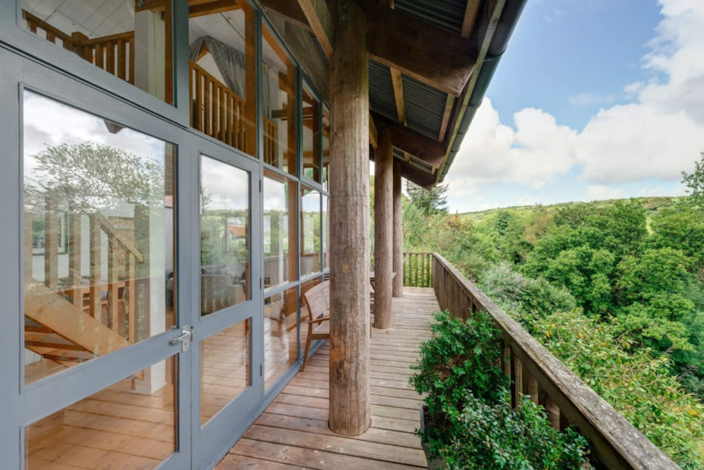 Private balcony with stunning views over the private 5 acre gardens