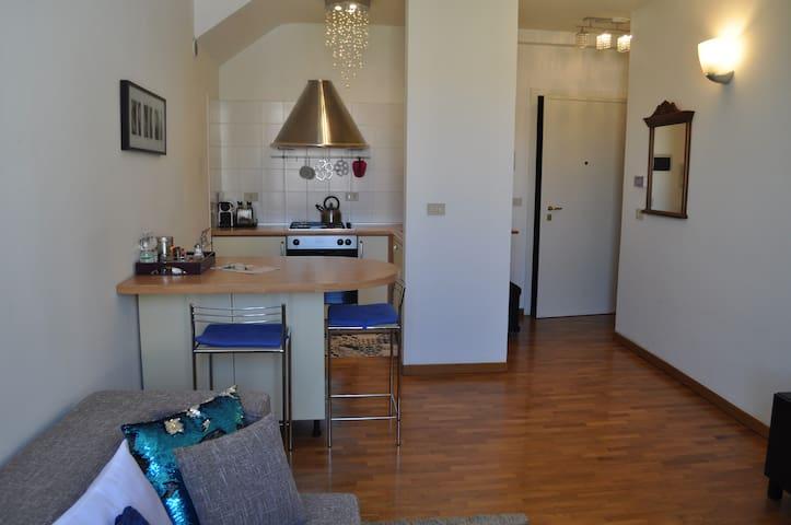 soggiorno e angolo cottura-living room with kitchenette