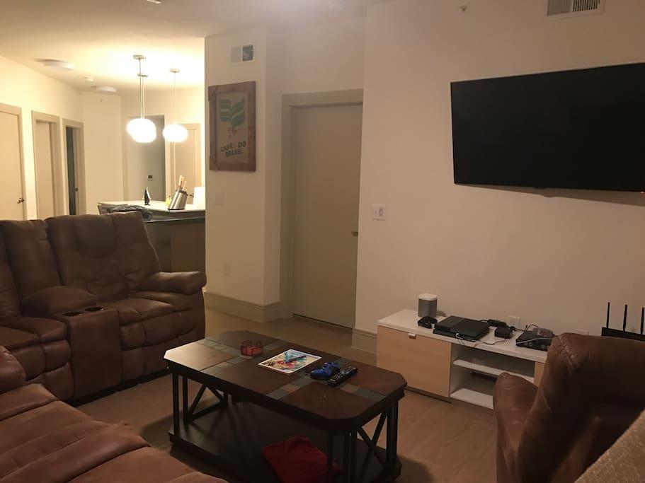 Living room and master bedroom door